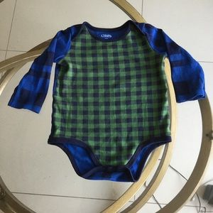 5 for $20 CHAPS PLAID BLUE/GREEN LONG SLEEVES